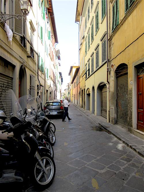 via della Chiesa, Florence Italy