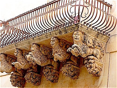 Nicolaci Balcony, Noto, Sicily