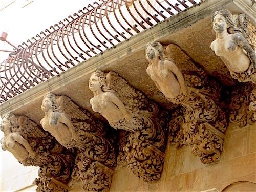Palazzo Nicolaci Balcony, Noto, Sicily