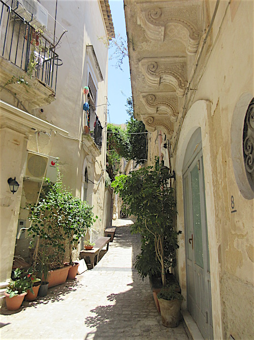 Sicily.....Scicli Alley with Pale Door
