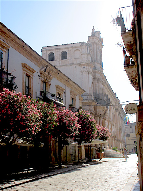 Sicily.....Scicli Street with Flowers